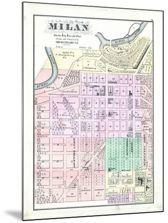 1874, Milan, Ohio, United States--Mounted Giclee Print