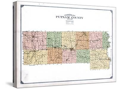 1916, Putnam County Topographical Map, Missouri, United States--Stretched Canvas Print