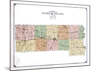 1916, Putnam County Topographical Map, Missouri, United States--Mounted Giclee Print