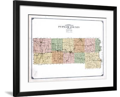1916, Putnam County Topographical Map, Missouri, United States--Framed Giclee Print
