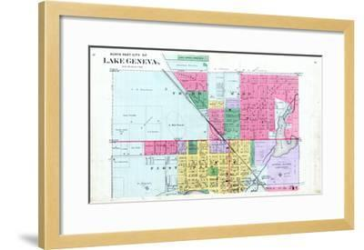 1891, Lake Geneva City - North, Wisconsin, United States--Framed Giclee Print