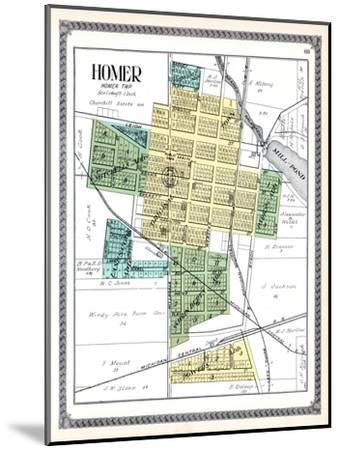 1916, Homer, Michigan, United States--Mounted Giclee Print