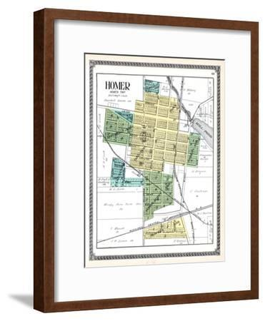 1916, Homer, Michigan, United States--Framed Giclee Print