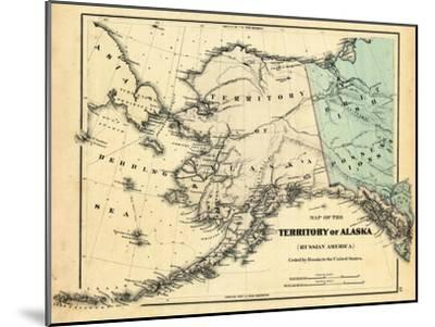18xx, Alaska Territory Map, Alaska, United States Giclee Print by ...