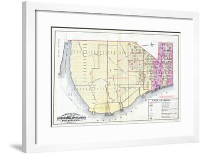 1887, Philadelphia Wards 1, 2, 3, 4, Pennsylvania, United States--Framed Giclee Print