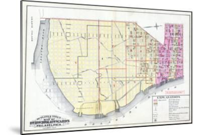 1887, Philadelphia Wards 1, 2, 3, 4, Pennsylvania, United States--Mounted Giclee Print