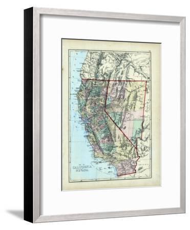 1873, California, Nevada, USA--Framed Giclee Print