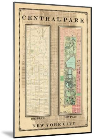 Central Park Development Composition 1815-1867, New York, United States, 1867--Mounted Premium Giclee Print