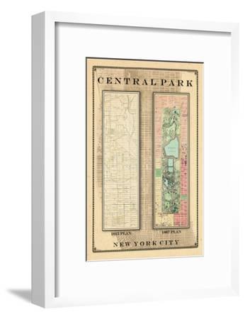Central Park Development Composition 1815-1867, New York, United States, 1867--Framed Giclee Print