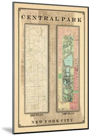 Central Park Development Composition 1815-1867, New York, United States, 1867--Mounted Giclee Print
