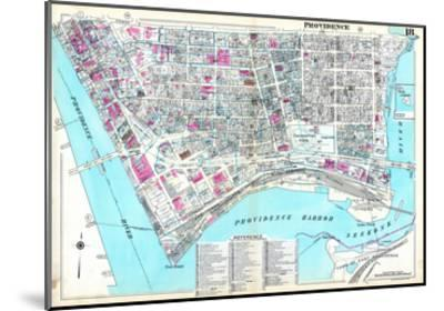 1937, Providence Plate 018, Rhode Island, United States--Mounted Giclee Print