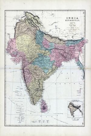 1873, India, Hindostan--Stretched Canvas Print