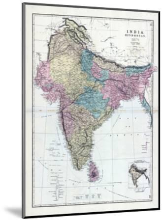 1873, India, Hindostan--Mounted Giclee Print