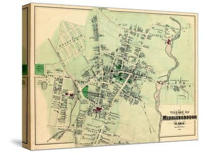 1879, Middleborough Village, Massachusetts, United States--Stretched Canvas Print