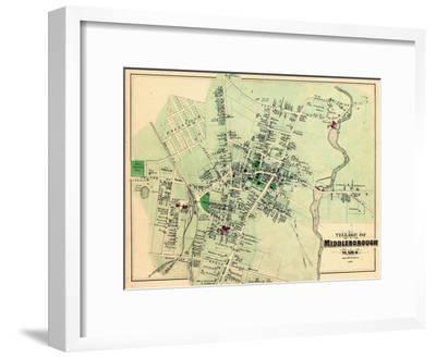 1879, Middleborough Village, Massachusetts, United States--Framed Giclee Print