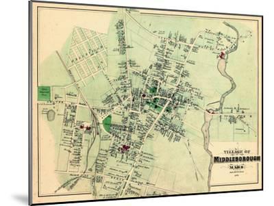 1879, Middleborough Village, Massachusetts, United States--Mounted Giclee Print