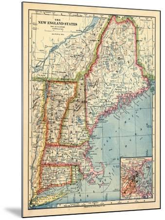 1883, New England 1883, Maine, United States--Mounted Giclee Print