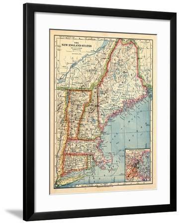 1883, New England 1883, Maine, United States--Framed Giclee Print