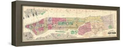 1882, New York City and County 1882, New York, United States--Framed Stretched Canvas Print