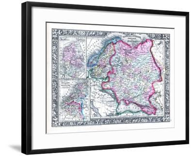 1864, Belgium, Denmark, Finland, Norway, Russia, Sweden, Europe, Russia in Europe, Sweden--Framed Giclee Print