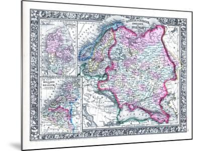 1864, Belgium, Denmark, Finland, Norway, Russia, Sweden, Europe, Russia in Europe, Sweden--Mounted Giclee Print