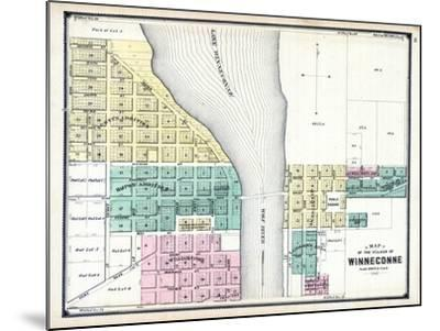 1889, Winneconne, Wisconsin, United States--Mounted Giclee Print