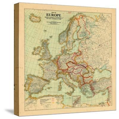1920, Europe--Stretched Canvas Print