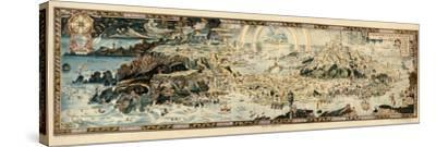 1920, Fairyland Newly Discovered Anciente Mappe--Stretched Canvas Print