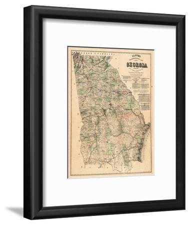 1864, Georgia State Map, Georgia, United States--Framed Giclee Print
