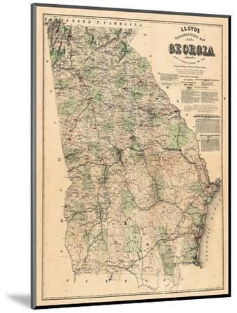 1864, Georgia State Map, Georgia, United States--Mounted Giclee Print