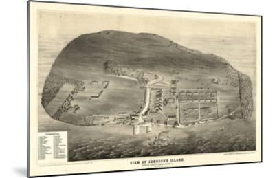 1865, Johnson's Island 1865c Bird's Eye View, Ohio, United States--Mounted Giclee Print