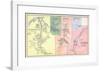 1892, Woodsville, Haverhill North, Haverhill Town, Pike Station, Pike Station Town, New Hampshire--Framed Giclee Print