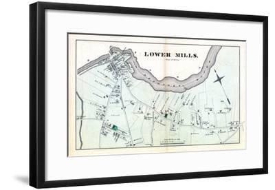 1876, Lower Mills - Milton, Massachusetts, United States--Framed Giclee Print