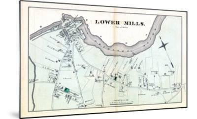 1876, Lower Mills - Milton, Massachusetts, United States--Mounted Giclee Print