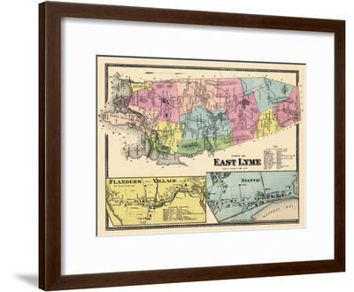 1868, Lyme East Town, Flander Village, Niantic, Connecticut, United States--Framed Giclee Print