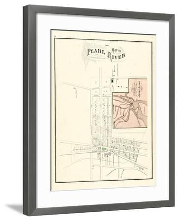 1876, Pearl River Map, New York, United States--Framed Giclee Print