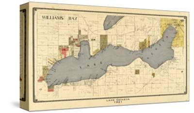 1921, Lake Geneva 1921, Wisconsin, United States--Stretched Canvas Print