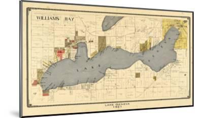 1921, Lake Geneva 1921, Wisconsin, United States--Mounted Giclee Print