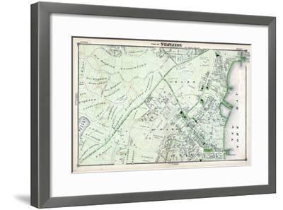 1874, Stapleton, New York, United States, Staten Island--Framed Giclee Print