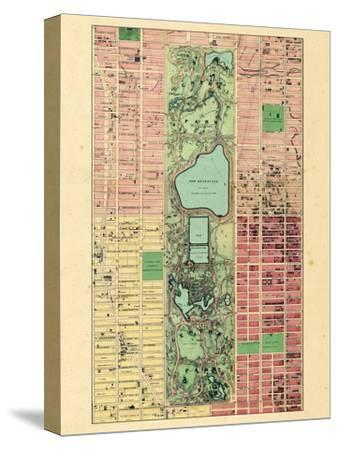 1867, New York City, Central Park Composite, New York, United States--Stretched Canvas Print