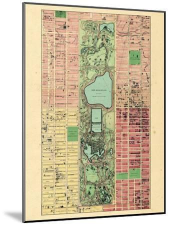 1867, New York City, Central Park Composite, New York, United States--Mounted Giclee Print