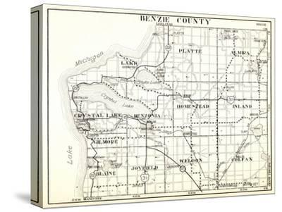 1930, Benzie County, Crystal Lake, Platte, Almira, Homestead, Inland, Gilmore, Blaine, Joyfield, We--Stretched Canvas Print