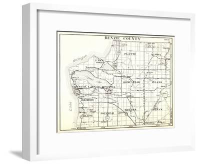 1930, Benzie County, Crystal Lake, Platte, Almira, Homestead, Inland, Gilmore, Blaine, Joyfield, We--Framed Giclee Print