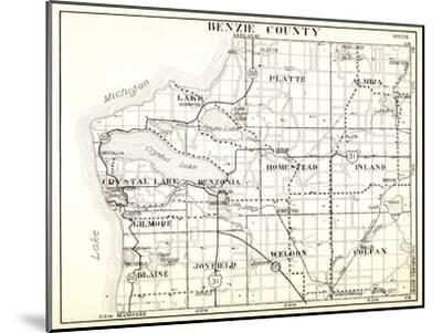 1930, Benzie County, Crystal Lake, Platte, Almira, Homestead, Inland, Gilmore, Blaine, Joyfield, We--Mounted Giclee Print