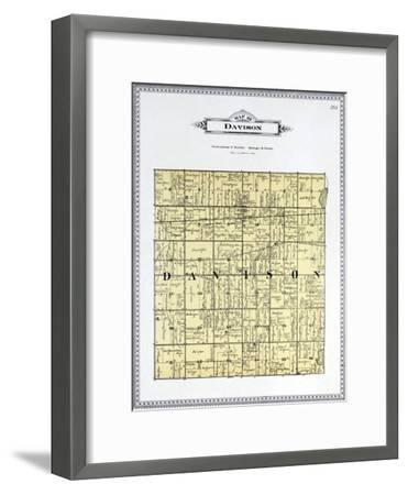 1899, Davison Township, Kearsley Creek, Black Creek, Potters Lake, Michigan, United States--Framed Giclee Print