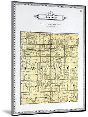 1899, Davison Township, Kearsley Creek, Black Creek, Potters Lake, Michigan, United States--Mounted Giclee Print