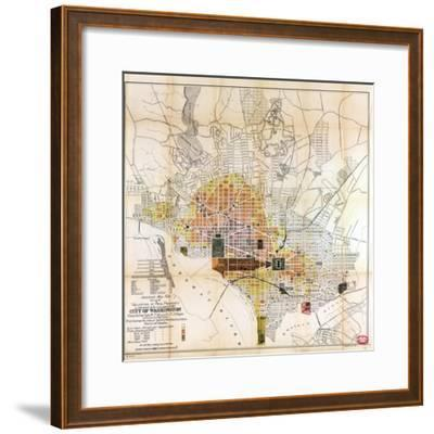 1891, Valuation of Real Property, District of Columbia, United States--Framed Giclee Print