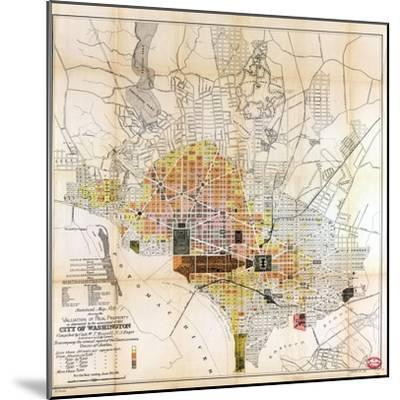 1891, Valuation of Real Property, District of Columbia, United States--Mounted Giclee Print
