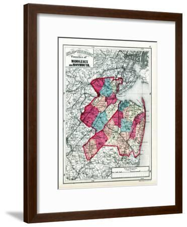 1873, Middlesex and Monmouth Counties, New Jersey, United States--Framed Giclee Print