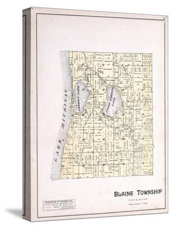 1901, Blaine Township, Herring Lake, Lake Michigan, Michigan, United States--Stretched Canvas Print